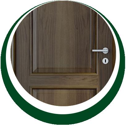 dettaglio porta interni in legno - Alpi Serramenti Torino