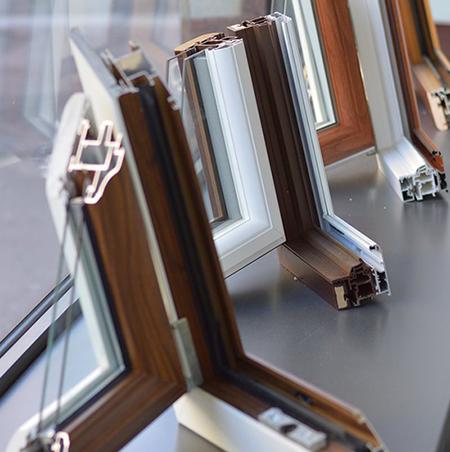 Sezioni finestra pvc nello Show-room Alpi Serramenti Torino