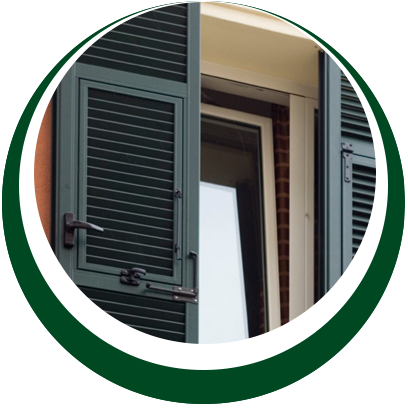 sicurezza casa - gelosie personalizzate color verde - Alpi Serramenti Torino