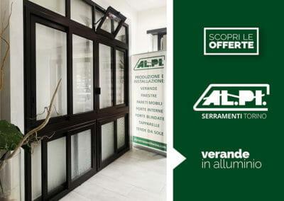 Veranda in alluminio da Alpi Serramenti Torino