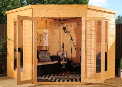 Gazebo legno sala prove