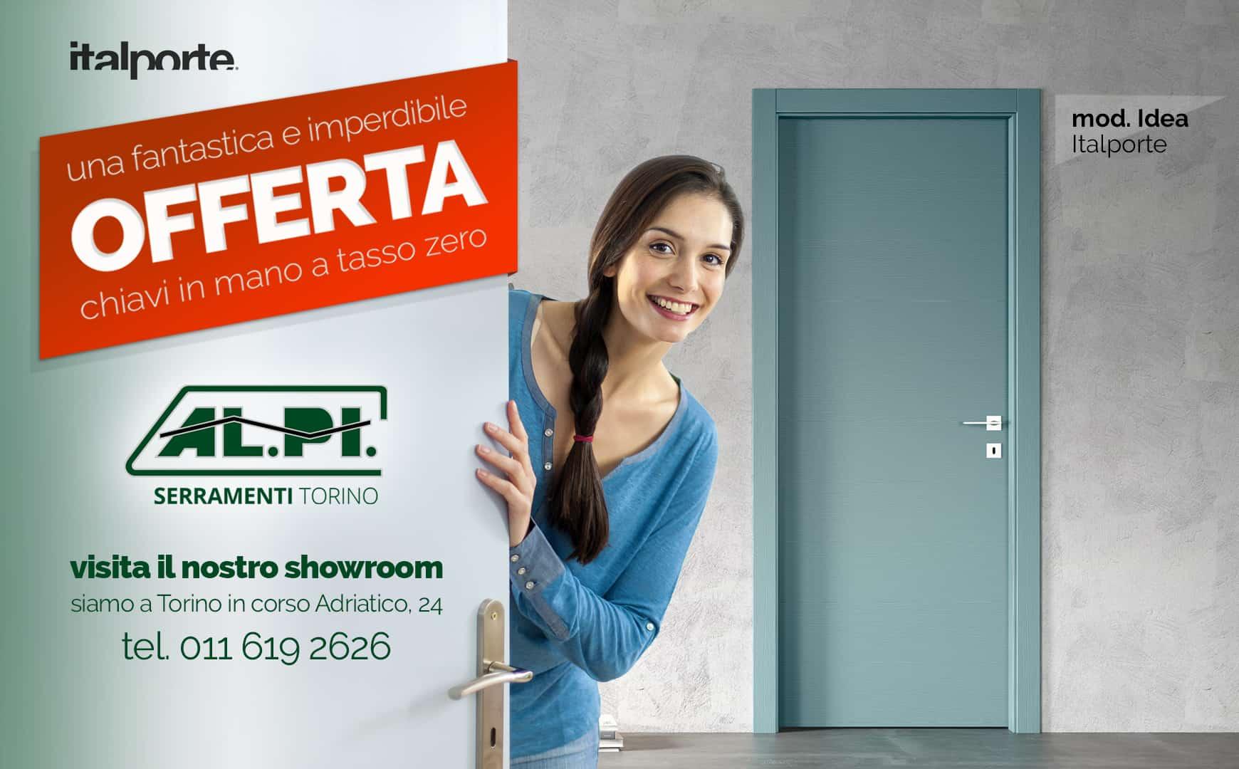 offerta porte interne ALPI Serramenti Torino, Italporte modello Idea