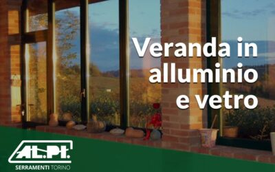 Veranda in alluminio e vetro di ALPI Serramenti.