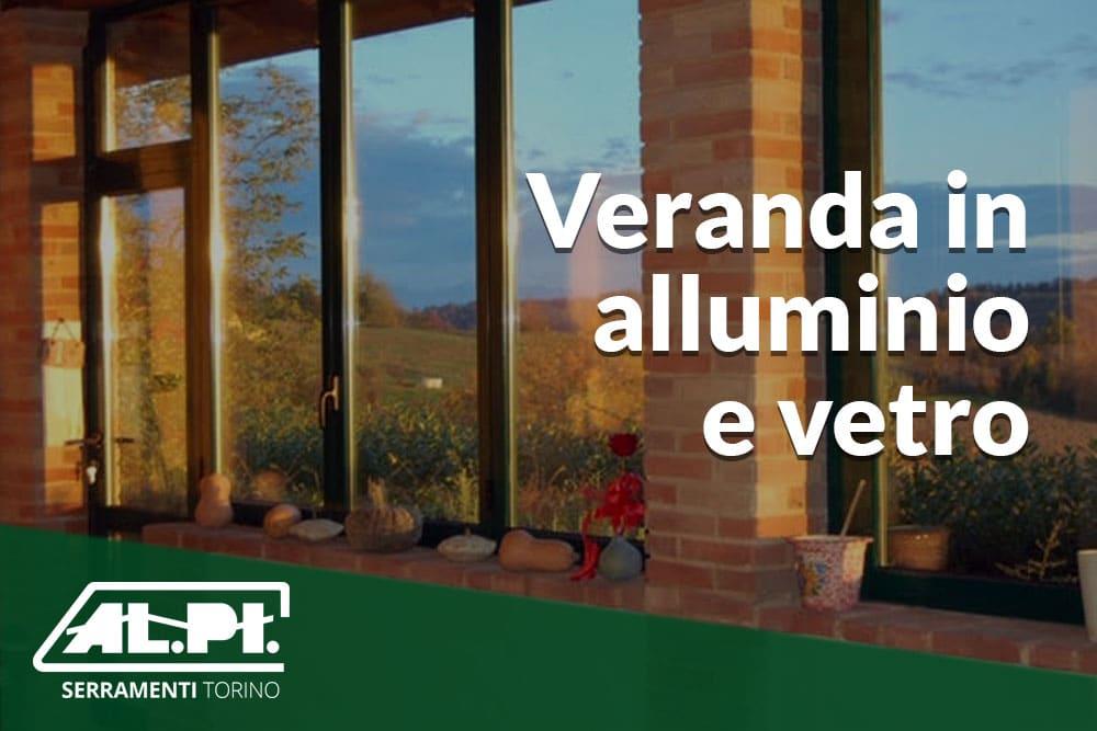 veranda alluminio e vetro