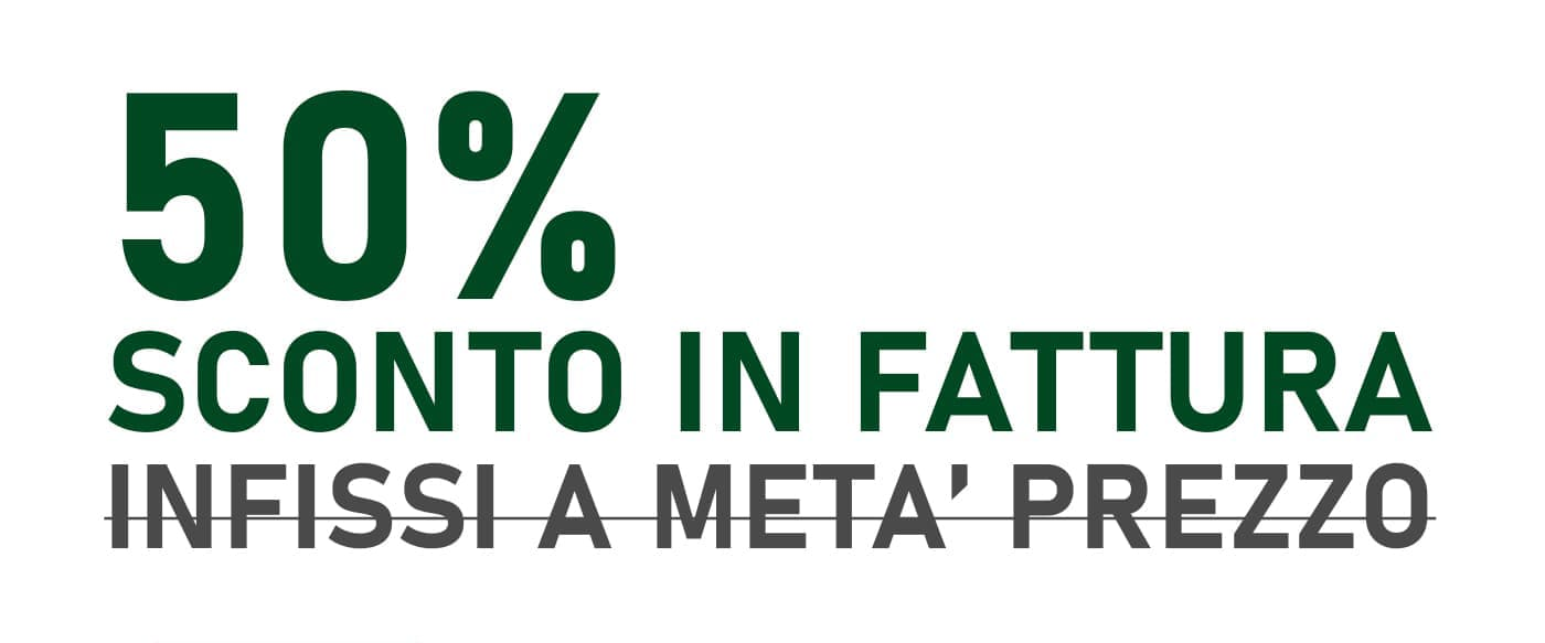 bonus infissi 50% sconto in fattura