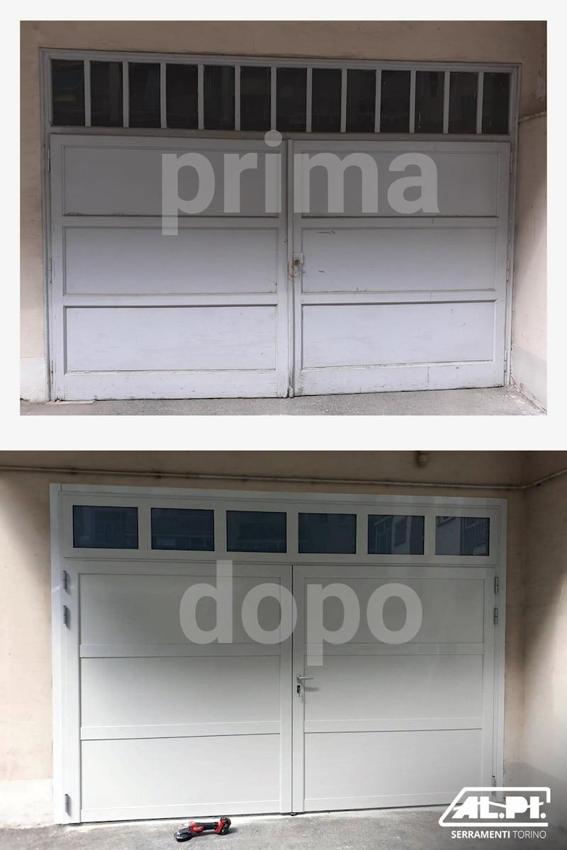 porta garage torino prima e dopo