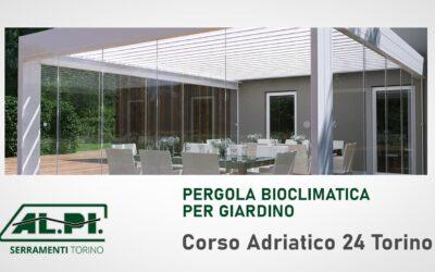 Pergola bioclimatica per giardino Torino