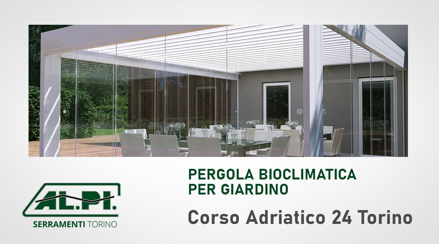 pergola bioclimatica giardino torino