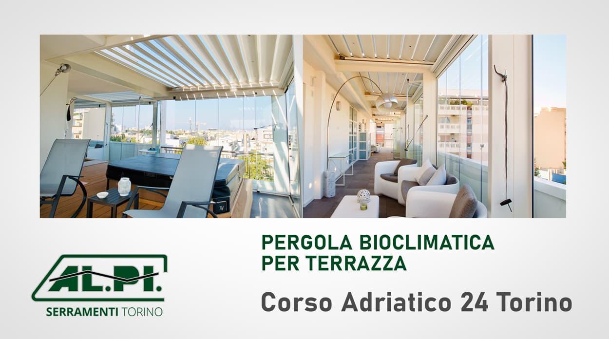 pergole bioclimatiche terrazza torino